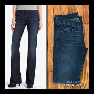7 for all Mankind Dark Bootcut Jeans (Size 28)